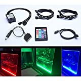 Amazon Price History for:Tingkam Full Kit RGB 5050 SMD 2pcs 18leds 30cm LED Strip Light Attached to Your PC Case via Magnet with 24 key Remote Controller for Desktop Computer Mid Tower Case (The 2nd Generation)