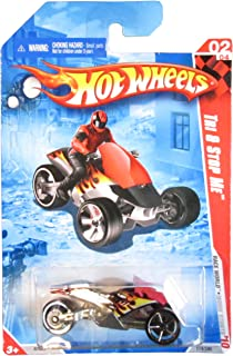 2010 Hot Wheels Race World: Movie Stunts 1:64 Scale Black w/ Flames