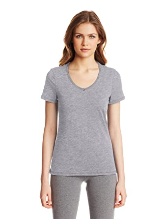 2af331e48b46 Nautica Sleepwear Women s Knit Jersey V-Neck Tee at Amazon Women s Clothing  store  Pajama Tops