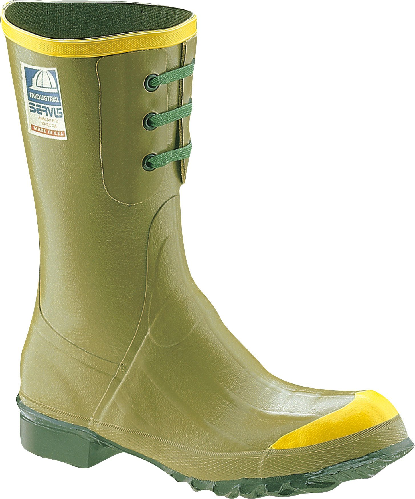 Ranger Engineer 12'' Heavy-Duty Men's Rubber Steel Toe Work Boots, Olive (21607)
