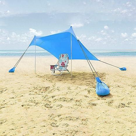Ombrelloni Per La Spiaggia.Lovebay Tenda Da Spiaggia Uv 50 Ombrellone Spiaggia Tendalino Da Sole Con Sand Anchor 2 1mx 2 1m