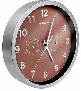 Bresser MyTime - Reloj de Pared Termo-/ Higro- 25cm, Color marrón