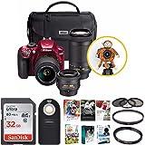 Nikon D3400 Triple Lens Parent's DSLR Camera Kit + 32GB Card + Great Savings Holiday Bundle