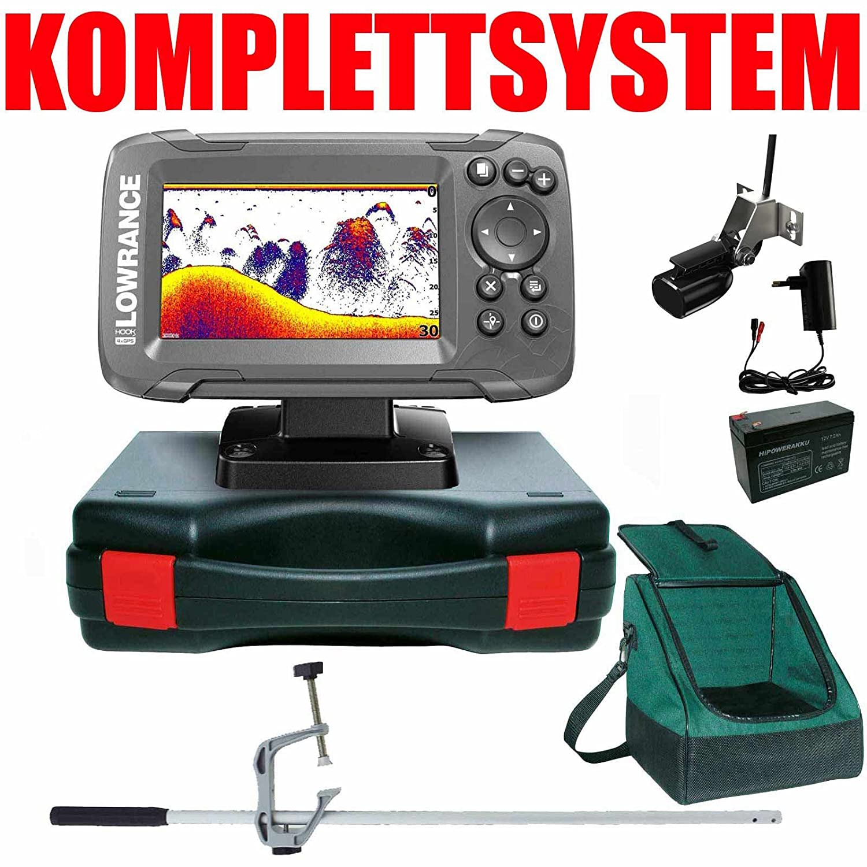Lowrance Echolot Portabel Master Edition Plus Komplettsystem Hook2 4X GPS