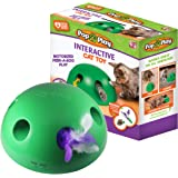Allstar Innovations Pop N' Play Interactive Motion Cat Toy, Includes: Electronic Smart Random Moving Feather & Mouse Teaser,