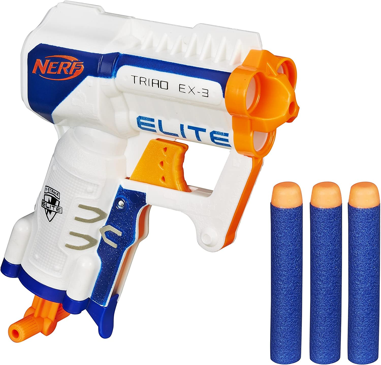 Nerf Core Ex-3 Elite Triad, Color Azul, Naranja, Blanco (Hasbro ...