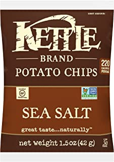 product image for Kettle Brand Potato Chips, Sea Salt, Single-Serve 1.5 Ounce (Pack of 64)