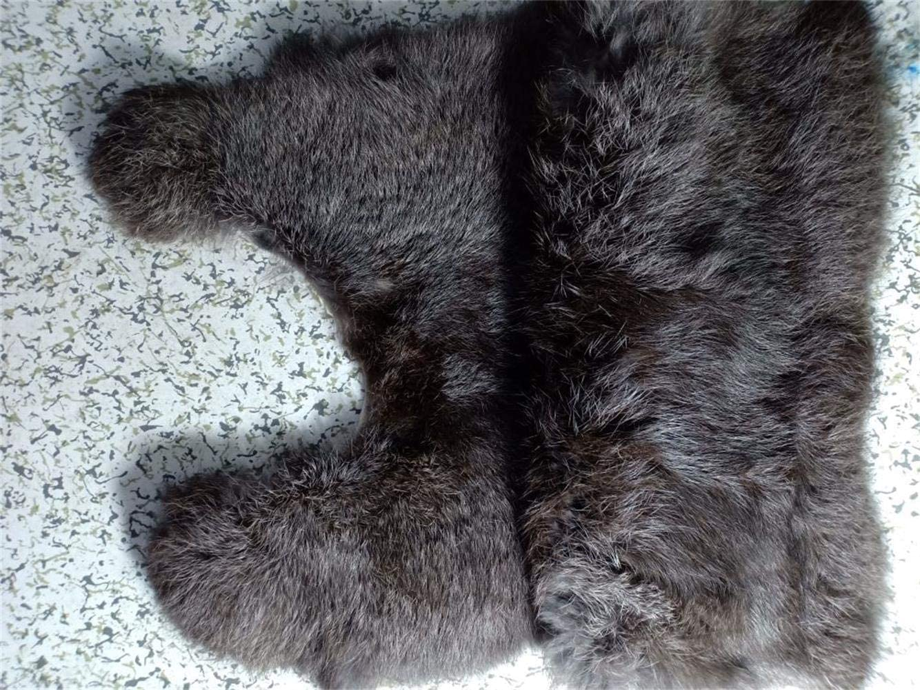 12 x 16Turquoise Natural Tanned Rabbit Fur Pelt Decorative Natural Rabbit Fur Hide With Sewing Quality Leather