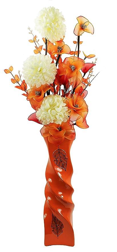 Flourish 795443 110 Cm Large Floor Vase With Artificial Flower