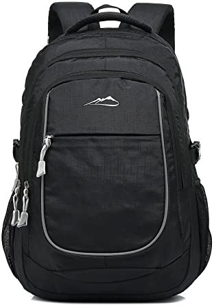 b1e992b5c750 School Backpack For College Travel Hiking Fit Laptop Up to 15.6 inch Water  Resistant (Black