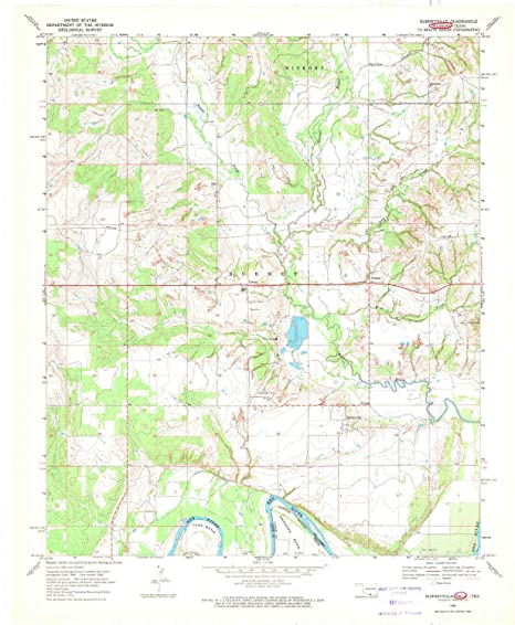 Amazon.com : YellowMaps Burneyville OK topo map, 1:24000 ...