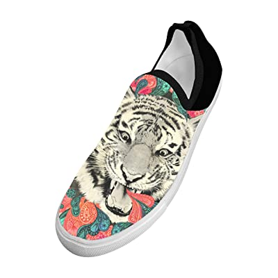 3D Printed Fly knit The combination of art and tiger Picture Fly Knit Sneaker Shoes