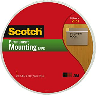 product image for Scotch Indoor Mounting Tape, 3/4-inch x 38-Yards, White, 1-Roll (110-MR)