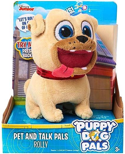 Amazon Com Disney Junior Puppy Dog Pals Pet Talk Rolly 4 Toys