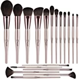 BESTOPE 18 Pcs Makeup Brushes Belly-type Handle Series Professional Premium Synthetic Contour Blush Foundation Concealers Hig