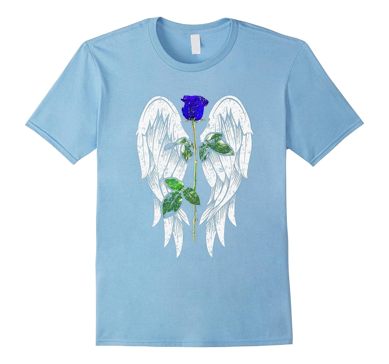 Police Week 2017 T Shirt Wings, Blue Rose Honor the Fallen