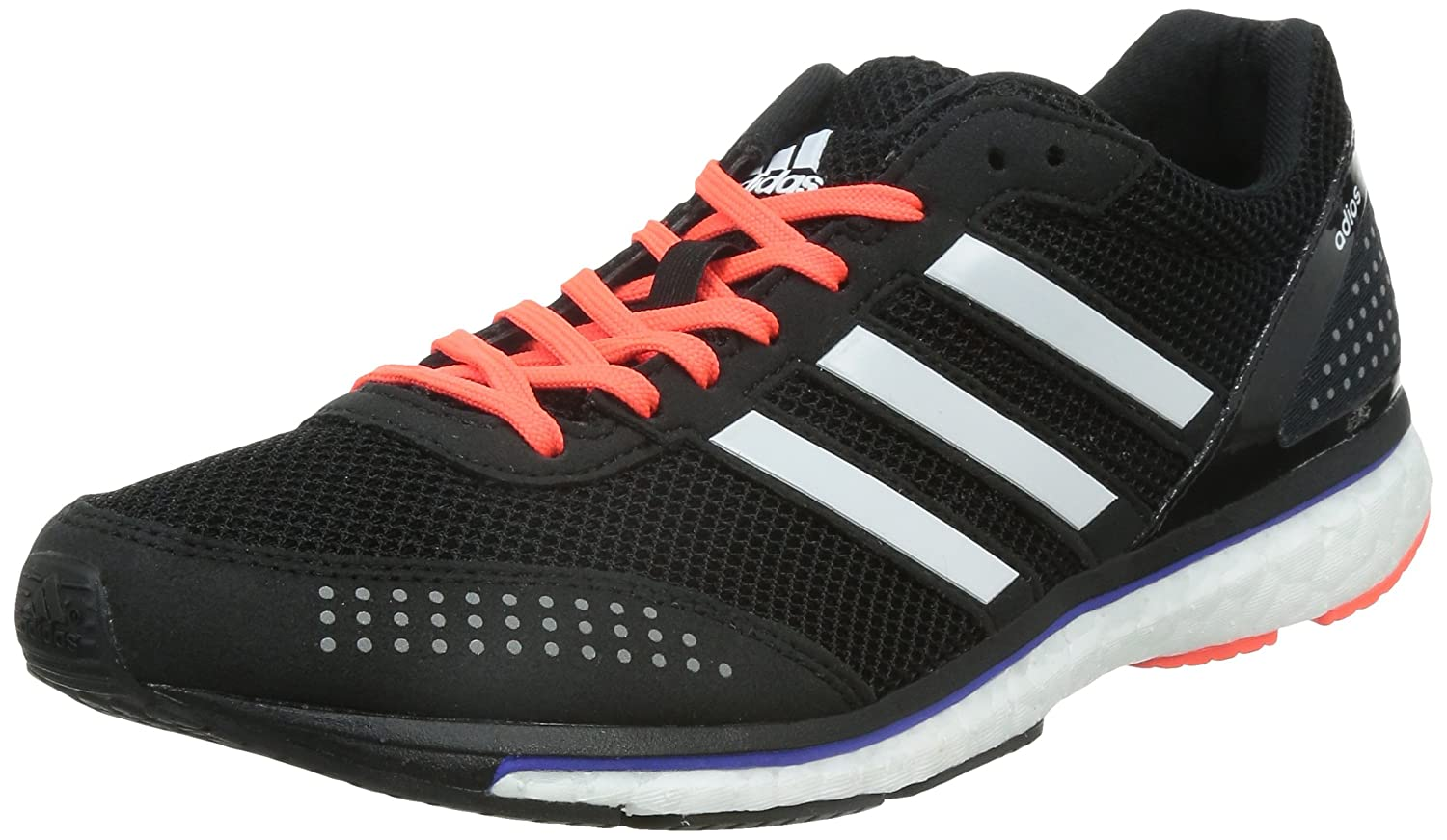 official photos 793ae e56d6 Adidas Men s Adizero Adios Boost 2 M Black, White and Raw Yellow Mesh  Running Shoes - 6 UK  Buy Online at Low Prices in India - Amazon.in