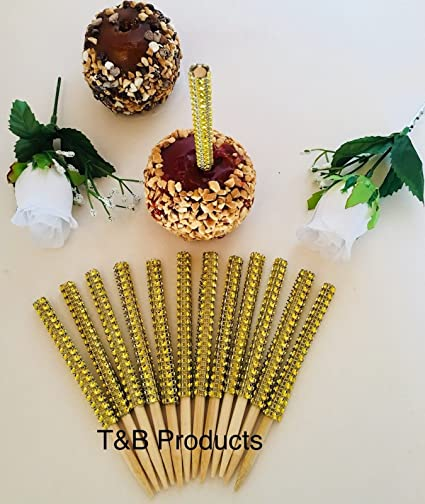 3188fed13951 Amazon.com  BLING GOLD 12 pc Candy Apple Sticks USPS First Class ...
