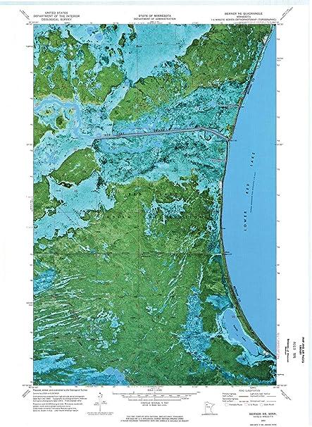 Amazoncom Minnesota Maps 1972 Berner Mn Usgs Historical - Us-geologic-survey-maps