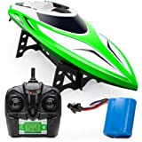 Force1 Velocity H102 RC Boat - Remote Control Boat for Pools and Lakes, Fast RC Boats for Adults and Kids with 20+ mph Speed,