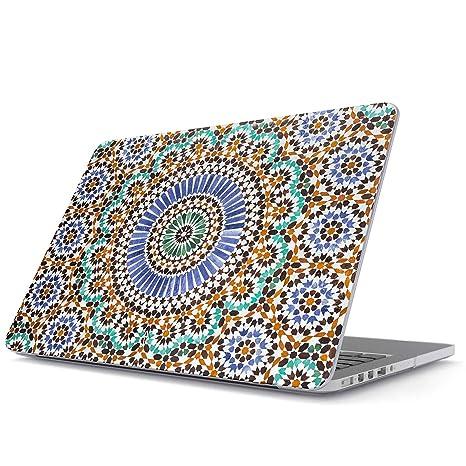 BURGA Funda para MacBook Pro 13 Pulgadas de 2016-2018, Modelo: A1989 / A1706 / A1708 con o Sin Touch Bar Vistoso Mosaic Colorful Boho Moroccan Dura ...