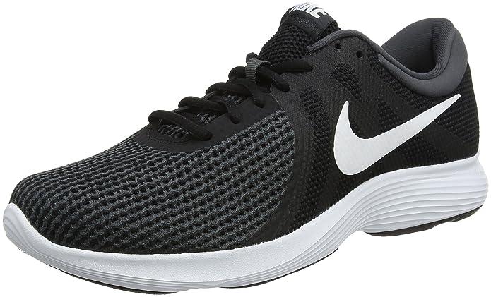 Nike Revolution 4 Herren Sneaker schwarz mit weißen Streifen