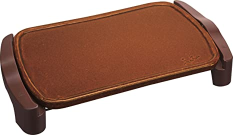 Jata Plancha de asar de terracota GR559 - Fabricada artesanalmente en España, No se raya, Superficie: 46 x 28 cm, Fácil limpieza, Consigue un sabor ...