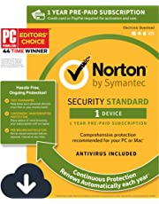 $27 » Norton Security Standard – Antivirus software for 1 Device with Auto Renewal, Requires Payment Method – 1 Year Pre-Paid Subscription [PC/Mac/Mobile Download]