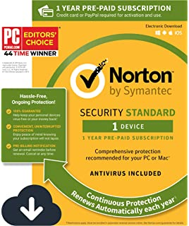 Amazon com: Norton Security Standard - 1 Device - Free Trial: Software