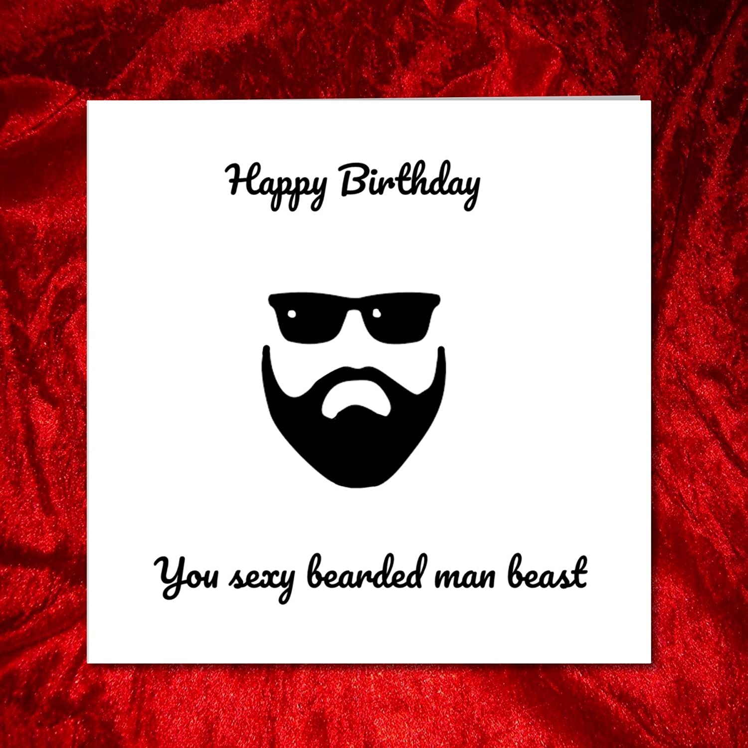 Beard Design Funny Birthday Card For Bearded Male Friend Brother Dad Son