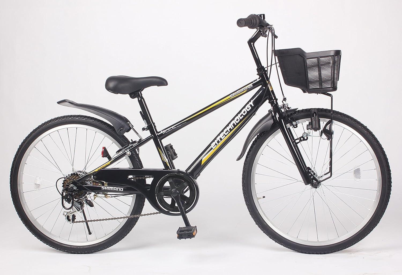 21Technology【KD246】24インチ 子供用マウンテンバイク シマノ製6段変速ギア付き B00NATM69Gブラック 24