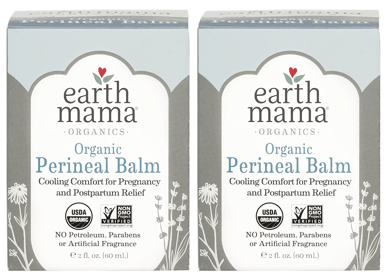 Earth Mama Organic Perineal Balm for Pregnancy and Postpartum, 2-Fluid Ounce (2-Count)