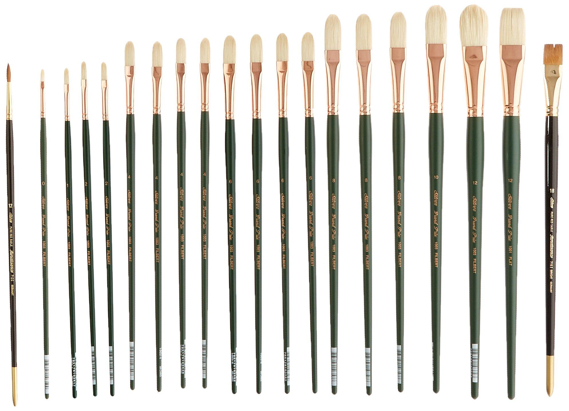 Silver Brush EK-220 Everett Raymond Kinstler Portrait Brush Set, 20 Per Pack