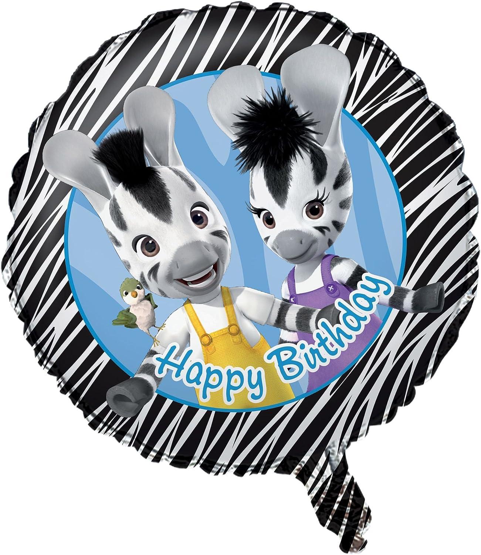 Amazon Com Zou Party 18 Foil Happy Birthday Balloon 1 Ct Toys