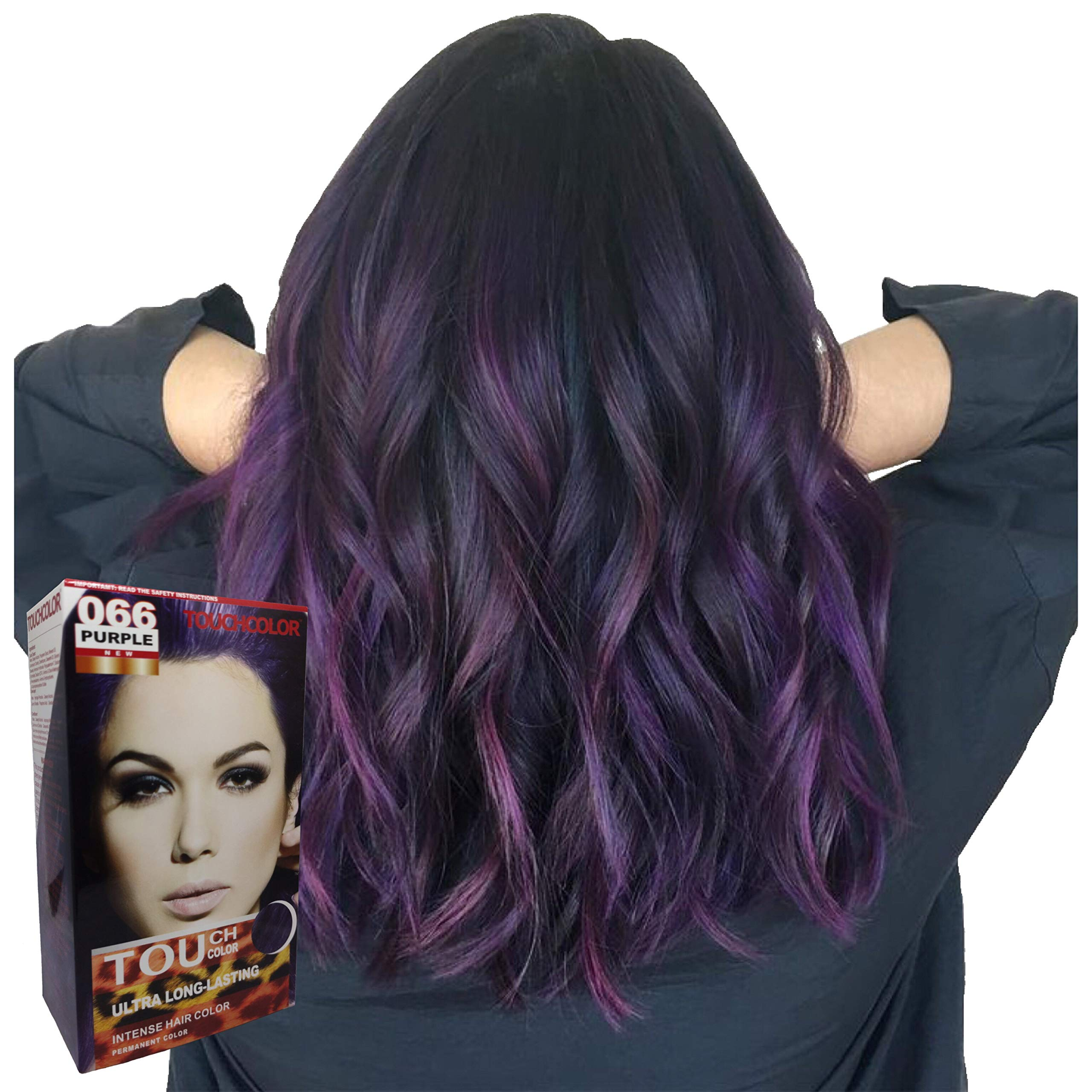 Touchcolor Hair Color Purple 80ml, Hair color cream, Permanent hair color, Hair dye, Highlights by Great Lengths