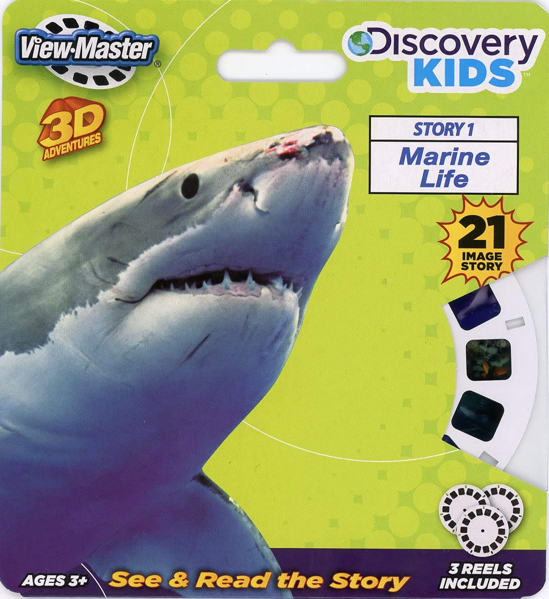 NEW View Master Discovery Box Set w// 21 Images of 3D Dinosaurs /& Other Wildlife