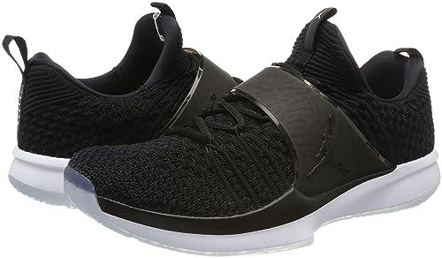 Amazon.com   NIKE Air Jordan Trainer 2 Flyknit Mens Basketball Trainers 921210 Sneakers Shoes (UK 7.5 US 8.5 EU 42, Black White 010)   Basketball