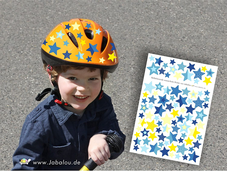 Jabalou Reflektierende Fahrradaufkleber Sticker f/ürs Fahrrad Kinderfahrrad