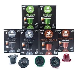 Nespresso Pods - 120 Pods Variety Pack - Espresso pods for Nespresso full compatible with Original Line Nespresso Machine, 40 Extra Intense Capsules, 40 Ristretto Capsules, 40 Arabica Capsules