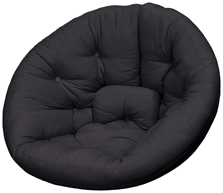 Karup Nest Futon Chair Sedia, Cottone/Poliestere, Nero 717, 120x110x85 cm NEST1717
