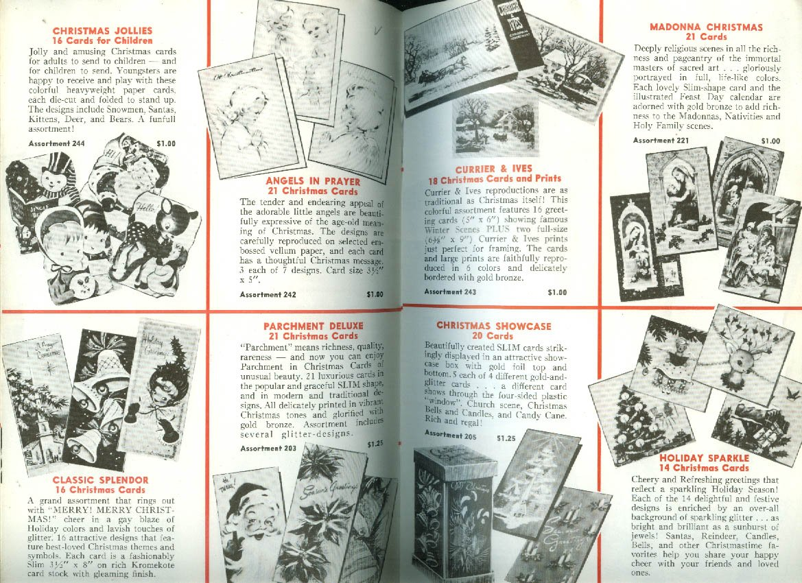 Chilton Greeting Cards Gifts Catalog 1957 Salt Pepper Games