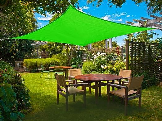 Cool Area toldo Vela de Sombra 5x5m Impermeable, PES Cuadrado para jardín, Verde: Amazon.es: Jardín