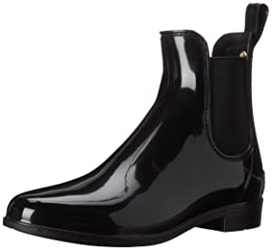Sam Edelman Women's Tinsley Rain Boot, Black Polished, 9 M US