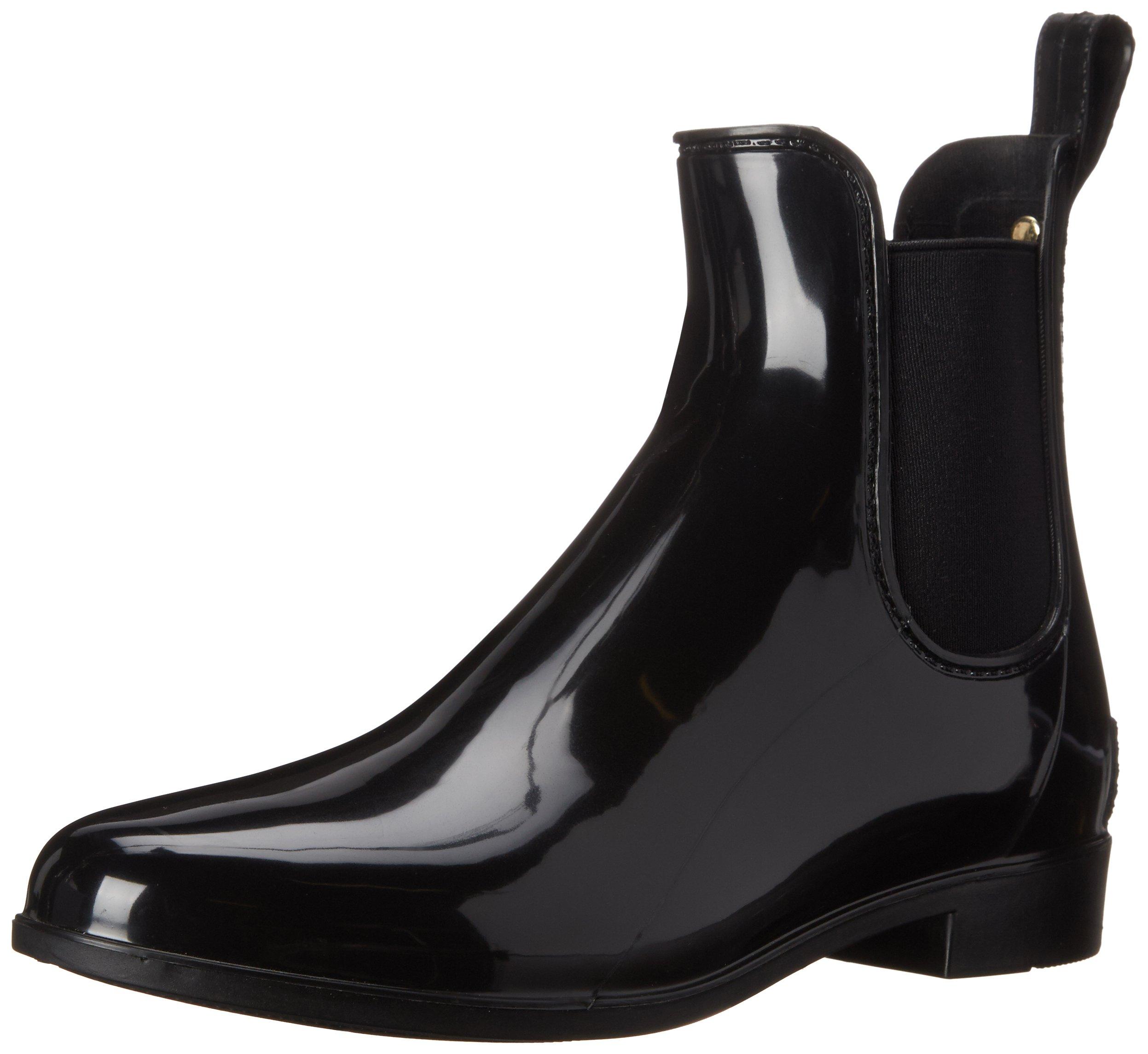 Sam Edelman Women's Tinsley Rain Boot, Black Polished, 9 M US