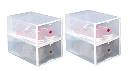 new styles a3af9 84ea8 ITIDY Shoe-Boxes-Clear-Plastic,Shoe Box for Women and Men Size
