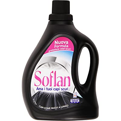 Soflan- Detergente para lana y tejidos delicados de colores oscuros, apto para lavar a mano y en lavadora, 1000ml