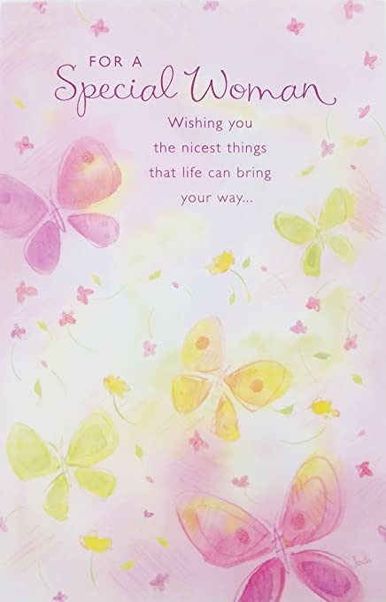 Amazon Com For A Special Woman Happy Birthday Greeting Card