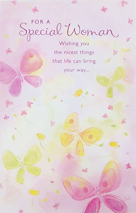 Amazon For A Special Woman Happy Birthday Greeting Card