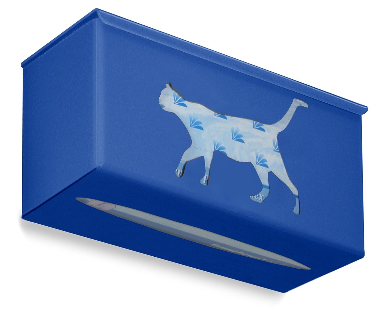 TrippNT 52679 Ultimate Cat Single Global Blue Dual Dispensing Glove Holder 10 Width x 10 Height x 4 Depth 10 Width x 10 Height x 4 Depth