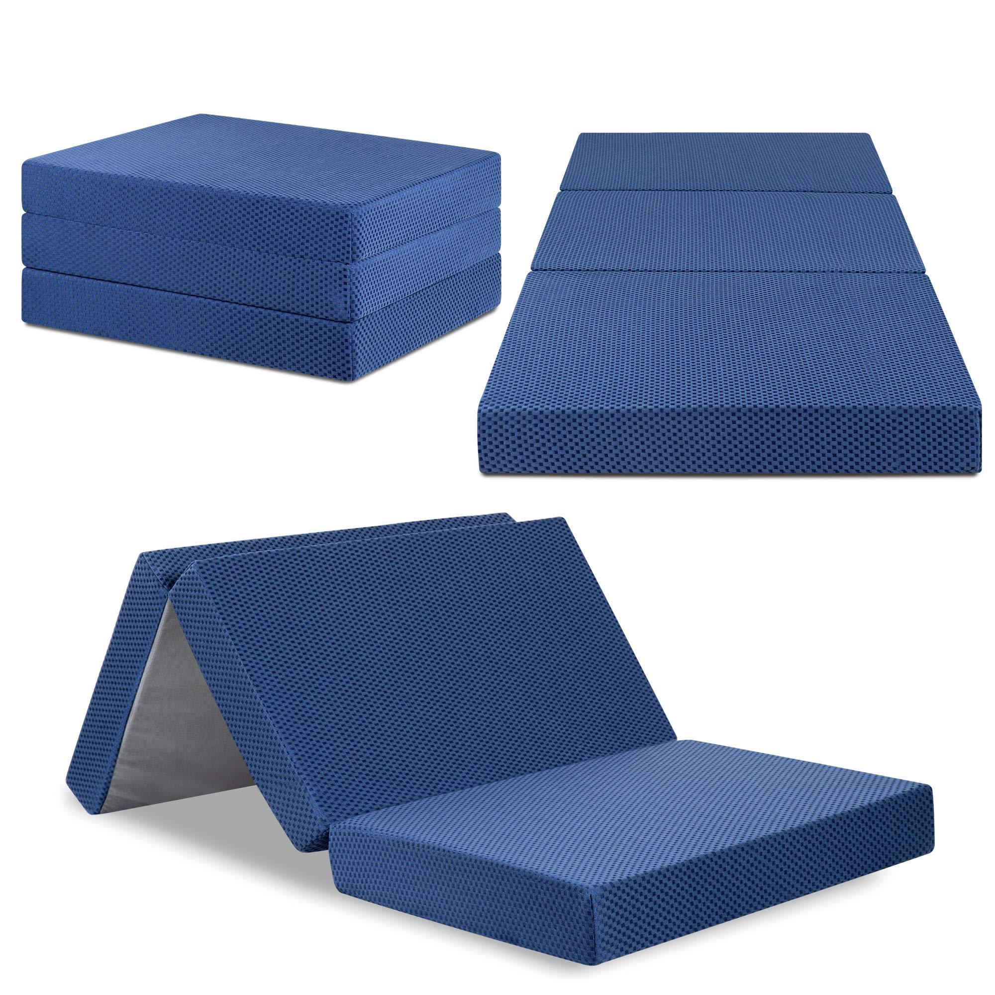Olee Sleep VC04TM02T Tri-Folding Memory Foam Mattress (TWIN, 38'' x 78'')